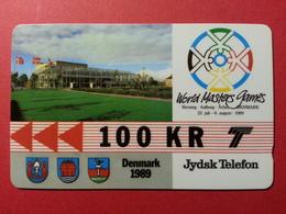 DENMARK Jydsk 100kR World Masters Games 1989 GPT CN: 2JYDC 3.000ex MINT ?? (CB1217) Danemark - Danemark