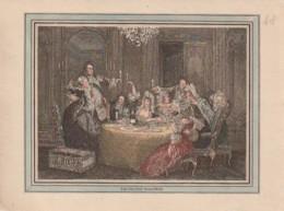 ***  LITHO COULEUR (environs 1900 Authentique)- Le Souper - TTB - Format CPM - Vieux Papiers