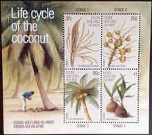 Cocos Keeling 1988 Coconut Minisheet MNH - Cocos (Keeling) Islands