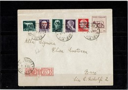 LCTD55B- ITALIE GOVERNO MILITARE ALLEATO LETTRE BARI AVRIL 1944 POUR VILLE - 5. 1944-46 Lieutenance & Humbert II: