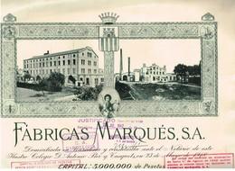 Titre Ancien - Fabricas Marquès, S.A. - Titulo De 1918 - Déco - Industrie