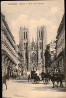 BRUXELLES : Eglise Et Rue Ste Gudule - Monuments, édifices