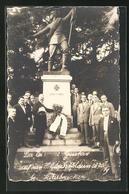 Foto-AK Saarbrücken, Der Eiserne Gustav, Denkmal 1870-1871 - Saarbruecken