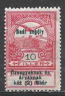 Hungary 1914. Scott #B23 (M) ''Turul'' And Crown Of Stephen * - Nuevos
