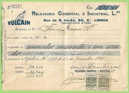 Lisboa - Factura Da Relojoaria Comercial E Industrial, Lda. - Joalharia - Ourivesaria - Portugal