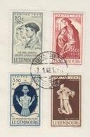 Série Caritas 1945 Oblitérée 7/01/46 (maquisards, Déportés, Prisonniers, Fusillés) + BF N° 5 Neuf - Luxembourg