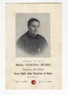 Santino Antico  Serva Di Dio Claudia Russo Con Reliquia - Religion & Esotericism