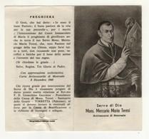 Santino Antico  Servo Di Dio Mercurio Maria Teresi Con Reliquia - Religione & Esoterismo