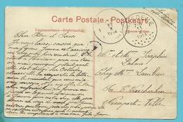 Kaart Stempel BREDENE Op 11/10/1914  Naar NIEUWPOORT Op 12/10/14 (Offensief W.O.I ) OKTOBER 1914 - WW I