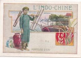 L'Indo-Chine - Porteuse D'Eau - Billet De Satisfaction - 2 Scans, Recto Et Verso - (Indochine, Saïgon) - Artis Historia