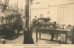 """.CPA  FRANCE 42 """"St  Etienne,  Manufacture Française D'Armes Et Cycles De St Etienne, Laboratoire D'essais Physiques """" - Saint Etienne"""