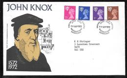Great Britain - Scotland - John Knox PO Commemorative Cover - Scottish Regional Stamps - 1952-.... (Elizabeth II)