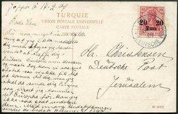 LEVANT Germany 1909 Palestine German PO JAFFA DEUTSCHE POST Pmk Postcard PPC Strand Sea-shore Postkarte > Jerusalem - Palestine