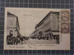 9313) Hungary Hongrie Kossuth Utcza üdvözlet Debreczenböl - Ungheria