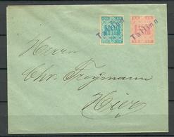 Estland Estonia 1919 Michel 1 & 2 Auf Dem Brief Provisional Line Cancel TALLINN - Estland