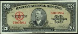 CUBA - 20 Pesos 1958 Fine+ P.80 B - Cuba