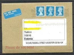 GREAT BRITAIN 2017 Air Mail Cover To Estonia Queen Elizabeth II - 1952-.... (Elizabeth II)