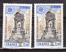 France 2008 A Variétés Europa Gomme Tropicale Et Normal Peu Visible Sur Scan  Neuf ** TB MNH Sin Charnela Cote 15 - Variétés Et Curiosités