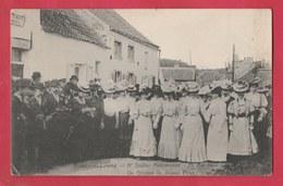 Ecaussines-Lalaing - 5e Goûter Matrimonial, 20 Mai 1907 - Un Groupe De Jeunes Filles ( Voir Verso , Unique Sur Le Site ) - Ecaussinnes