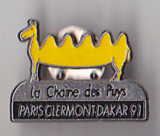 PIN'S  THEME RALLYE AUTOMOBILE PARIS CLERMONT DAKAR 1991 - Rally