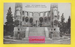 CPA PONTARLIER 62  ֎  LE MONUMENT AUX MORTS (J M BOUTTERIN ARCHITECTE)  ֎ - Pontarlier