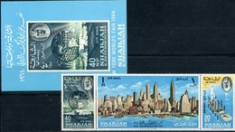 Sharjah, New York Fair, 1964,  Space, 3 Stamps + Block - Ruimtevaart
