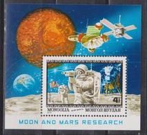 Mongolia, Moon & Mars, Research, 1979, Block - Ruimtevaart