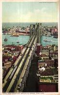 ETATS UNIS - EAST RIVER AND BROOKLYN BRIDGE NEW YORK - Etats-Unis