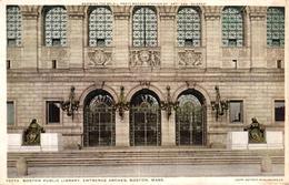 ETATS UNIS - BOSTON PUBLIC LIBRARY ENTRANCE ARCHES BOSTON MASS - Etats-Unis
