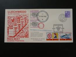 Lettre Cover Train Blaenau Ffestiniog Railway Letter Llechweed Slate Cavern Mine Mining GB 1982 - Regional Issues