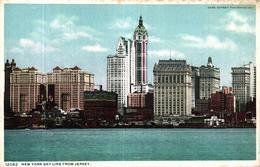 ETATS UNIS - NEW YORK SKY LINE FROM JERSEY - Etats-Unis
