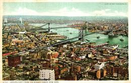 ETATS UNIS - LOOKING EAST FROM THE SINGER TOWER NEW YORK - Etats-Unis