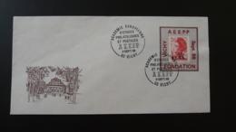 Lettre Liberté De Gandon Avec Vignette Porte-timbre AEEPP Vichy 03 Allier 0988 - 1982-90 Liberty Of Gandon