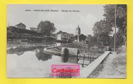 CPA 25 PONTARLIER ֎ Les Bords Du Doubs Ecluse Sur Le Canal  ֎ - Pontarlier
