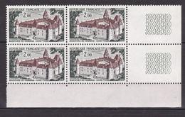 N° 1726 Série Touristique: Château De Bazoches-du-Morvand: Un Bloc De 4 Timbres Neuf Impeccable - France