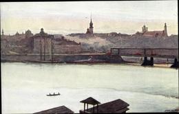 Artiste Cp Piotrowski, A., Warszawa Warschau Polen, Widok Z Pragi - Pologne