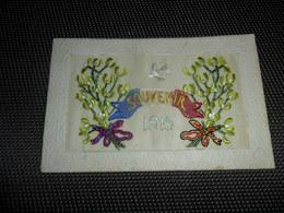 Carte Brodée ( 75 )  Geborduurde Kaart   Souvenir  1915   Guerre  Oorlog - Brodées