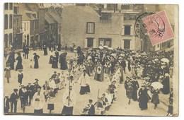 50-GRANVILLE-CARTE PHOTO-Procession Devant Ets P. LEGOUBIN, Cierges Et Fournitures Pour Inhumation...1905 Animé - Granville
