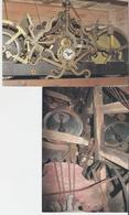 LA FERTE MACE. 2 CP Eglise Notre Dame Le Mécanisme De L'ancienne Horloge - La Charpente Du Beffroi - La Ferte Mace
