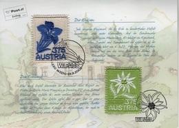 (O) Austria (2008) - PACK -  /  Flower - Fleurs - UNUSUAL Emboidery - Végétaux