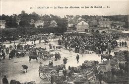 *LA PLACE DES ALLUVIONS. UN JOUR DE MARCHE - Saint Lo