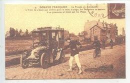 Douane Française : La Fraude En Automobile BANDE ROUGE Douanier Vélo (cp Double 2 Scan) - Douane
