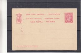 Luxembourg - Carte Postale De 1895 - Entiers Postaux - - 1895 Adolphe Right-hand Side