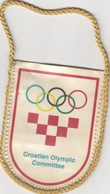 Pennant Croatia Olympic Committee Hrvatska NOC - Apparel, Souvenirs & Other
