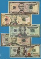 USA LOT 5  HELL BANKNOTES 5+10+20+50+100 DOLLARS - Etats-Unis