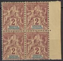 N° 9 - X X - En Bloc De 4 - Unused Stamps