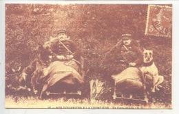 Nos Douaniers à La Frontière KEPI Chien Cp Double Vierge 2 Scan - Douane