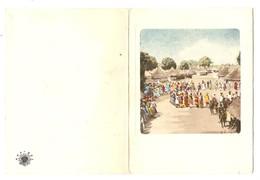 CARTON DE VOEUX INGENIEUR GENERAL GENIE RURAL ABIDJAN COTE D'IVOIRE DANSE - Ed. HOA QUI - Vecchi Documenti