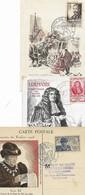 Lot De 11 Cartes Et 15 Enveloppes Journée Du Timbre Et Fete Du Timbre Paris 1945 - Belfort 1947 - Lens 1948 - Paris 195 - Altri