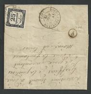 Taxe Carré N° 5 , 25c Noir Sur Lettre Du 30 Avril 1873 Oblitéré Cachet T17 Doué La Fontaine , Maine Et Loire - Taxes